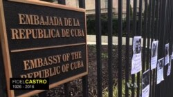 Memorials Grow at Cuban Embassy in Washington, DC