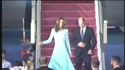 شہزادہ ولیم اور اُن کی اہلیہ کیٹ مڈلٹن کا نور خان ایئر بیس پر استقبال