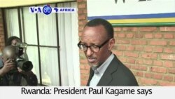 VOA60 Africa- Rwandan President Paul Kagame says he will seek reelection for a third term in 2017.