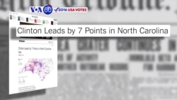VOA60 Elections - NYT: Hillary Clinton has a seven-point lead over Donald Trump in North Carolina