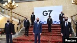 G-7 နိုင္ငံျခားေရး၀န္ၾကီးမ်ား အစည္းအ ေ၀း (ဓာတ္ပံု- Reuters)