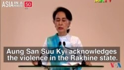 Myanmar's De Facto Leader Says No Ethnic Cleansing Taking Place