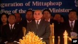 Cambodian King Norodom Sihamoni