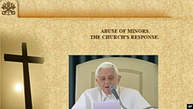 "A screen grab from a section of the Vatican website entitled ""ABUSE OF MINORS. THE CHURCH'S RESPONSE"""