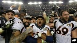 Los Broncos de Denver celebran el triunfo en el Super Bowl 50.