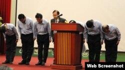 Các lãnh đạo Formosa Hà Tĩnh xin lỗi vì đã gây ra nạn cá chết ở miền Trung hôm thứ Tư.
