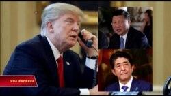 TT Trump điện đàm với lãnh đạo TQ và Nhật về vấn đề Bắc Triều Tiên