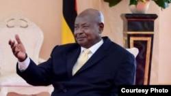 Le président Yoweri Museveni de l'Ouganda, 13 novembre 2017.