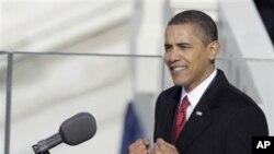 취임연설을 하는 바락 오바마 미국 대통령