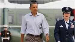 دیدار پرزیدنت اوباما از مناطق طوفان زده