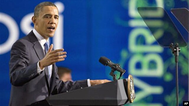President Barack Obama speaks at a UPS facility in Landover, Md., Apr 1, 2011