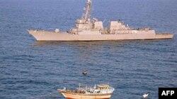Khu trục hạm USS Kidd nhận được tín hiệu cấp cứu từ tầu Iran Al Molai