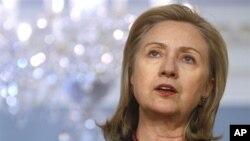 美国国务卿克林顿2月22日在国务院发表讲话