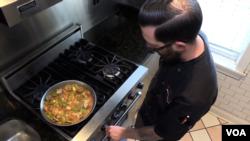 Executive Chef Matt Holmes cooks with Rumi Spice saffron at Café Bar-Ba-Reeba on Chicago.