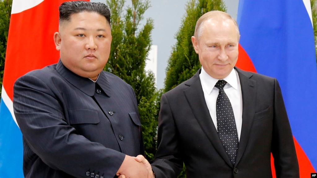 Lãnh tụ Triều Tiên Kim Jong Un gặp Tổng tống Nga Putin hôm 25/4.