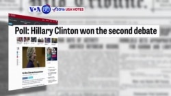 VOA60 Elections - In a two-way generic ballot, Clinton is leading Trump by five points