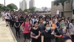 香港沙田反送中地區遊行 11萬 5000人參與