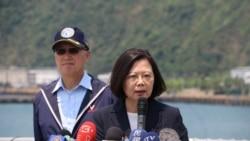 """蔡英文: 测考海军应变能力不跟对岸""""互别苗头"""