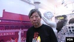 香港支聯會秘書李卓人 (美國之音湯惠芸拍攝)