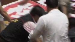 台湾立法院因核四议题爆发肢体冲突
