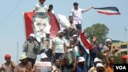 برطرف صدر مرسی کے حامیوں کا مظاہرہ