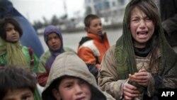 Дети в лагере беженцев. Кабул, Афганистан