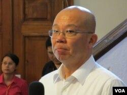 台湾228国家纪念馆馆长 廖继斌(美国之音张永泰拍摄)