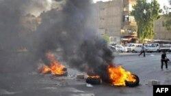 16일 정부군과 반군간 충돌이 계속 되는 시리아 수도 다마스쿠스시.