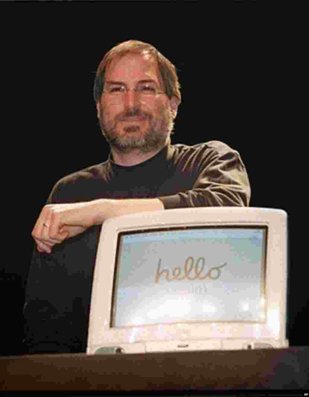 This September 17, 1998 file photo shows Apple co-founder Steve Jobs during a press conference in Paris, France. (AFP)