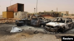 Après un attentat-suicide près de Misrata, Libye, le 21 mai 2015. (REUTERS/Stringer)