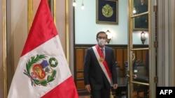 Presiden Peru Martin Vizcarra di istana presiden di Lima, 6 Agustus 2020. (Foto: dok).