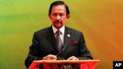 FILE - Brunei's Sultan Hassanal Bolkiah.