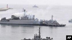 韩国海军舰只(资料照片)