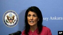 美国常驻联合国代表黑利(资料照)
