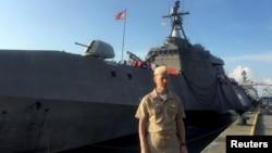 FILE - Chief of U.S. Naval Operations Admiral John Richardson.