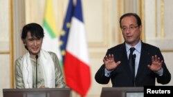 Tổng Thống Pháp Francois Hollande nói sẽ làm tất cả những gì có thể làm được để ủng hộ tiến trình dân chủ hóa Miến Ðiện