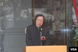亞東關係協會會長邱義仁(美國之音楊明拍攝)
