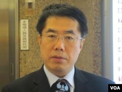 台湾在野党民进党立委黄伟哲 (美国之音张永泰)