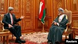 美國國務卿克里星期二會見阿曼國王卡布斯.