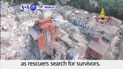 VOA60 World PM - Strong Earthquake Kills at Least 120 in Central Italy