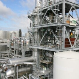 An overview of Imperium Renewables' biodiesel refinery in Grays Harbor, Washington