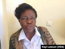 Berthe Tatey, à Lomé, au Togo, le 18 mars 2018. (VOA/Kayi Lawson)