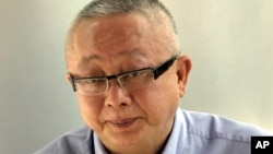 FILE - Co-leader of the People's Alliance for Democracy (PAD) Sondhi Limthongkul.