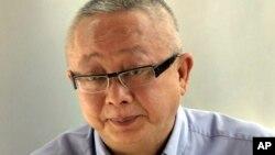 태국에서 지난 2008년 발생한 대규모 반정부 시위 '노란 셔츠' 시위 주동자 중 한 명인 손디 림통쿨 씨. (자료료사진)