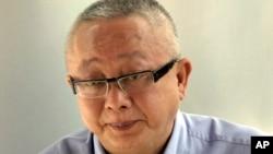 Ông Sondhi Limthongkul tại tòa án hình sự ở Bangkok, Thái Lan.