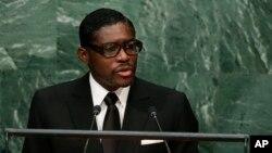 Le vice-président et fils du président de Guinée équatoriale, Teodorin Obiang, 30 septembre 2015,