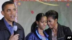 Le président Barack Obama et sa famille
