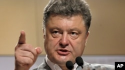 Петр Порошенко на пресс-конференции в Киеве. Украина. 26 мая 201 г.