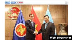 Thứ trưởng Ngoại giao Hoa Kỳ David Hale gặp Phó Thủ tướng kiêm Ngoại trưởng Việt Nam Phạm Bình Minh tại New York, ngày 26/09/2019.