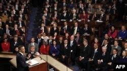 Predsednik Barak Obama govori o stanju unije u Kongresu